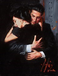The Embrace VI (Station) by Fabian Perez -  sized 9x12 inches. Available from Whitewall Galleries